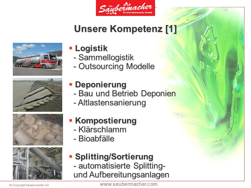 Unsere Kompetenz [1] Logistik - Sammellogistik - Outsourcing Modelle